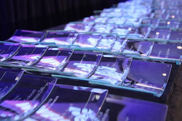 Eddies & Ozzies awards table